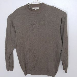 Pronto-Uomo Sweater Mens Sz XL Tan Beige Pullover